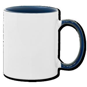 11oz blue interior handle Photo Mug