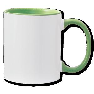 11oz light green interior handle Photo Mug