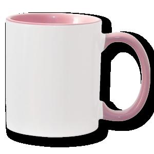 11oz pink interior handle Photo Mug