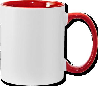 11oz red interior handle Photo Mug
