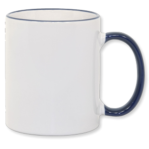 11oz Blue Photo Mug