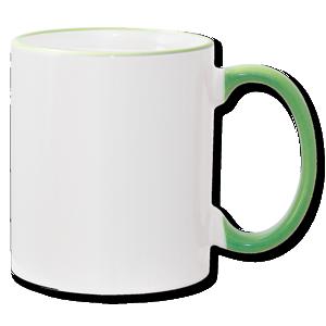 11oz Light Green Photo Mug