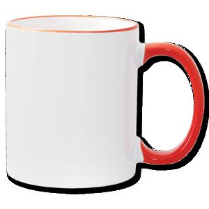 11oz Orange Photo Mug