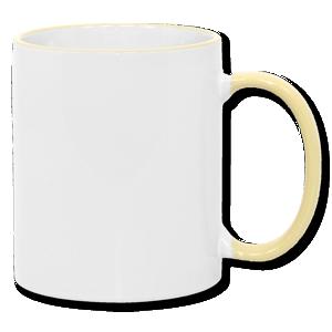 11oz Yellow Photo Mug