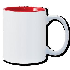 11oz Red Photo Mug