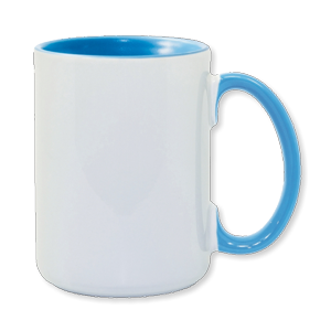 15oz Light Blue Photo Mug