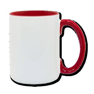 15oz red interior handle Photo Mug