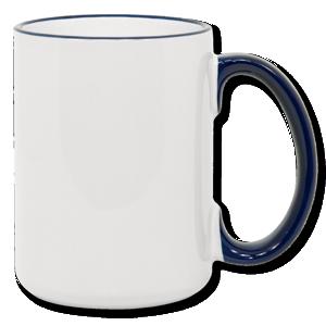 15oz blue Photo Mug