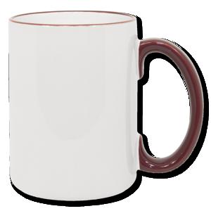 15oz maroon Photo Mug