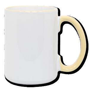 15oz Yellow Photo Mug