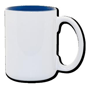 15oz blue interior Photo Mug