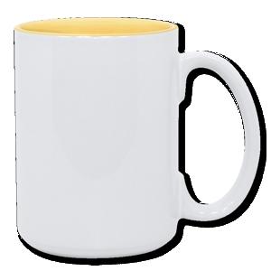 15oz yellow interior Photo Mug