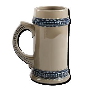 Blue beer stein