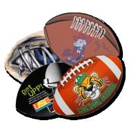 Football Shape mousepad