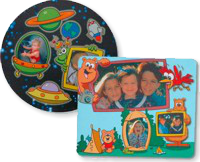 personalized round mouse pad