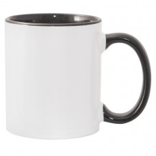 11oz Color Combo Black Mug