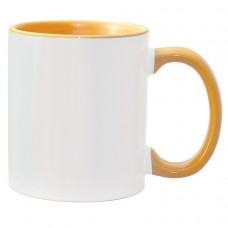 11oz Color Combo Golden Yellow Mug