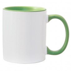 11oz Color Combo Light Green Mug