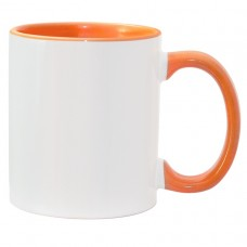 11oz Color Combo Orange Mug