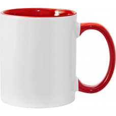 11oz Color Combo Red Mug