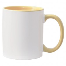 11oz Color Combo Yellow Mug