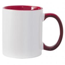 11oz Color Combo Maroon Mug