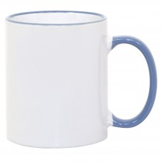 11oz Cambridge Blue Rim Handle Mug