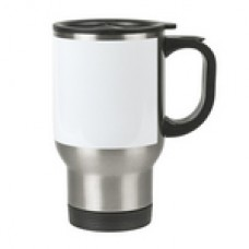 14 oz Stainless with white panel