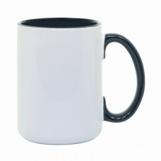 15oz Color Combo Black Mug