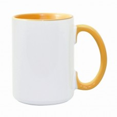 15oz Color Combo Golden Yellow Mug