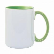 15oz Color Combo Light Green Mug