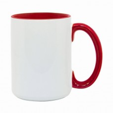 15oz Color Combo Red Mug