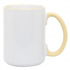 15oz Rim Handle Yellow Mug