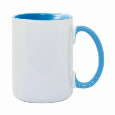 15oz Light Blue Combo Deco Mug