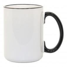 15oz Rim Handle Black Mug