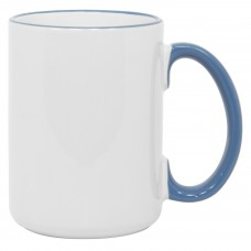 15oz Rim Handle Cambridge Blue Mug