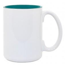 15oz 2 Tone Green Mug