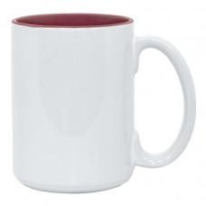 15oz 2 Tone Maroon Mug