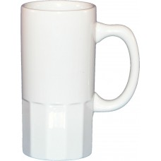 18 oz beer stein with fluted bottom