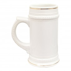 22 oz German Beer Mug White