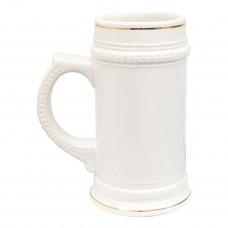 22 oz German Beer Mug White