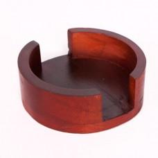 Round Wood Coaster Racks