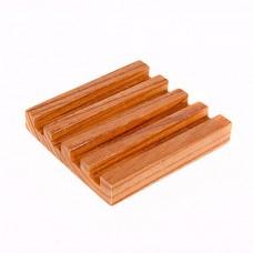Slotted Oak Coaster Rack