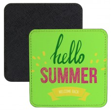 Square 4x4 PolyLeather Coaster