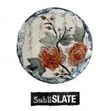 "Slate Coaster - 4"" Diameter - Round Gloss"
