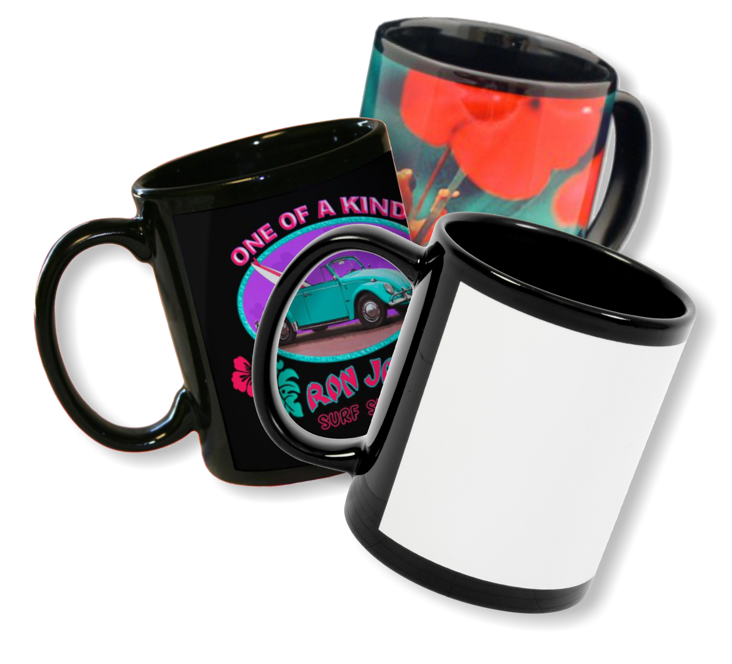 Black Photo Mugs