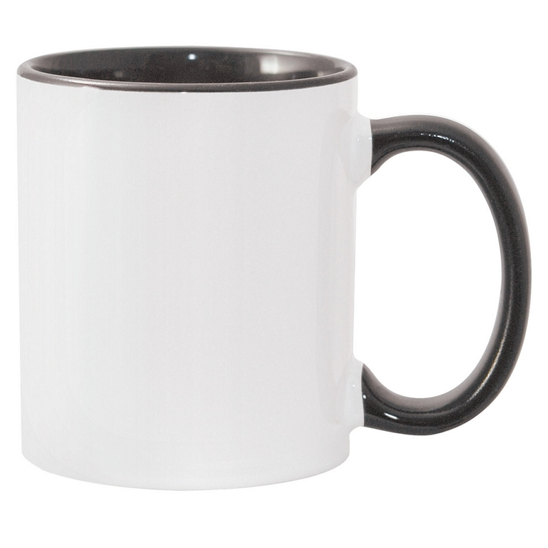 11oz black interior handle Photo Mug