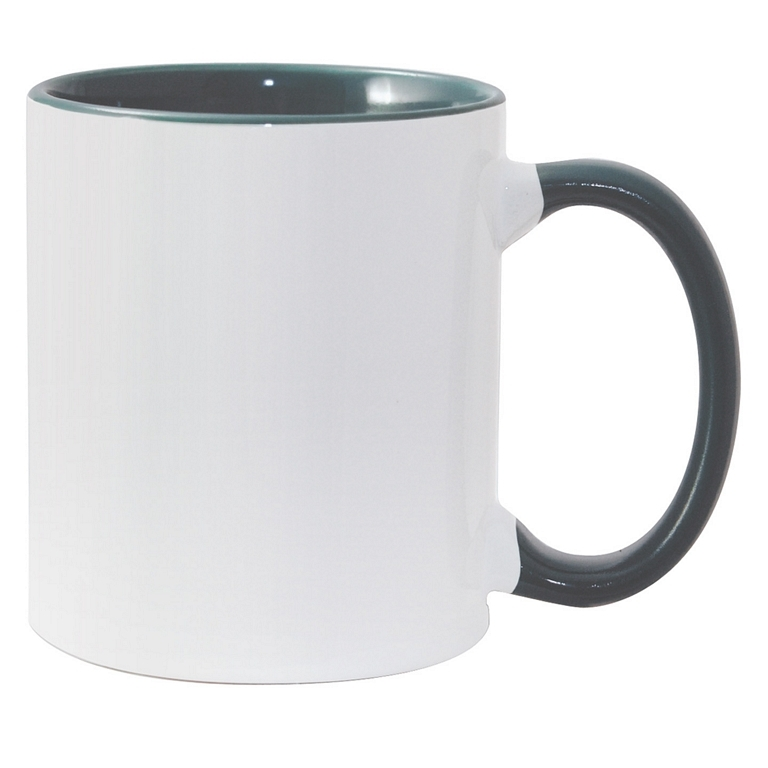 11oz green interior handle Photo Mug