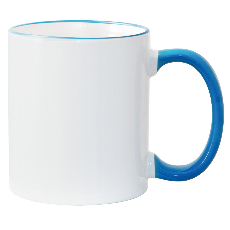11oz Light Blue Photo Mug