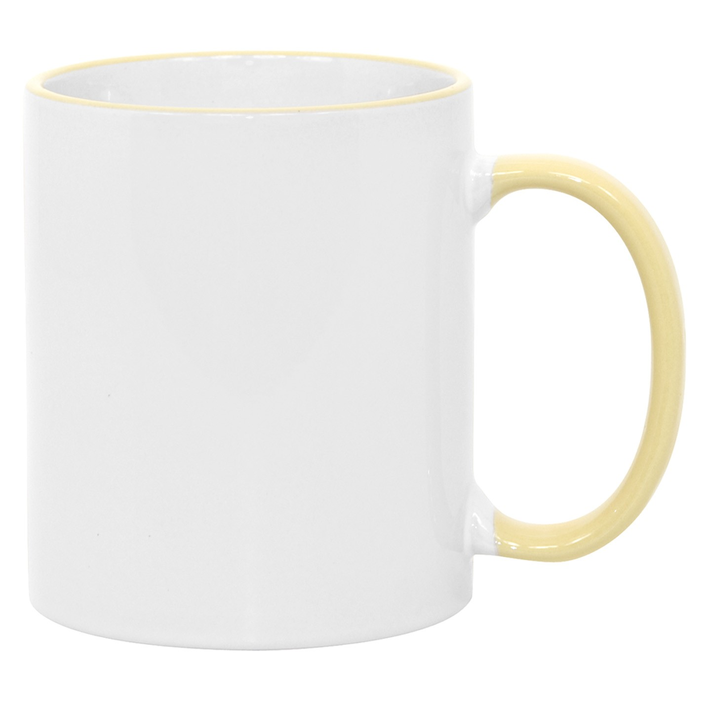 11oz Yellow Photo Mug